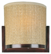 ET2 E95188-101OI Elements Grass Cloth 11 Inch Wide Oil Rubbed Bronze Wall Sconce Lamp