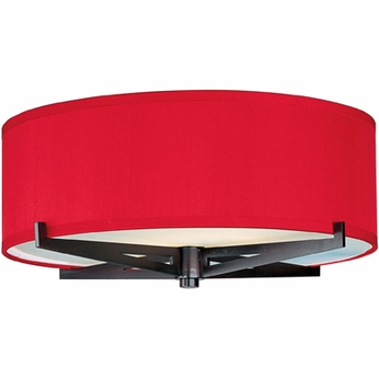 ET2 E95300 Elements Flush Mount 16  Contemporary Ceiling Light - Round or Square Shade, 3 Colors
