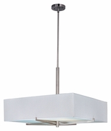 ET2 E95348-100SN Elements Contemporary 26 Inch Wide White Weave Drop Lighting Fixture