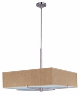 ET2 E95348-101SN Elements Satin Nickel Finish 26 Inch Wide Grass Cloth Large Pendant Lamp