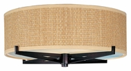 ET2 E95400-101OI Elements 16 Inch Diameter Round Oil Rubbed Bronze Grass Cloth Ceiling Lamp