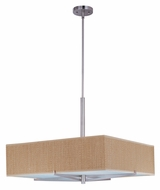 ET2 E95448-101SN Elements Grass Cloth Large Satin Nickel Finish Fluorescent Ceiling Pendant Light