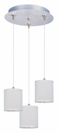 ET2 E95493-100SN Elements 7 Inch Tall 3 Lamp Satin Nickel Multi Hanging Light - White Weave