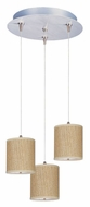 ET2 E95493-101SN Elements Grass Cloth 3 Lamp 7 Inch Tall Multi Pendant Lighting