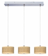 ET2 E95496-101SN Elements Small 24 Inch Wide 3 Lamp Linear Bar Multi Ceiling Pendant Lighting