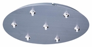 ET2 EC95018-SN RapidJack Satin Nickel Finish Round 7 Lamp Multi Pendant Canopy - 17 Inch Diameter