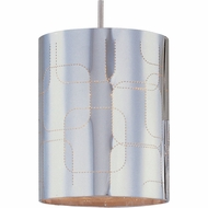 ET2 EP9600769SN Minx Cylindrical Contemporary Polished Chrome RapidJack Mini Pendant Light Fixture