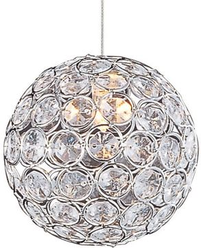 ET2 EP96077-20PC Brilliant Polished Chrome Xenon Mini Hanging Light Fixture