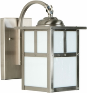 Craftmade Z1844-56 Mission Craftsman Stainless Steel Exterior Small Lamp Sconce