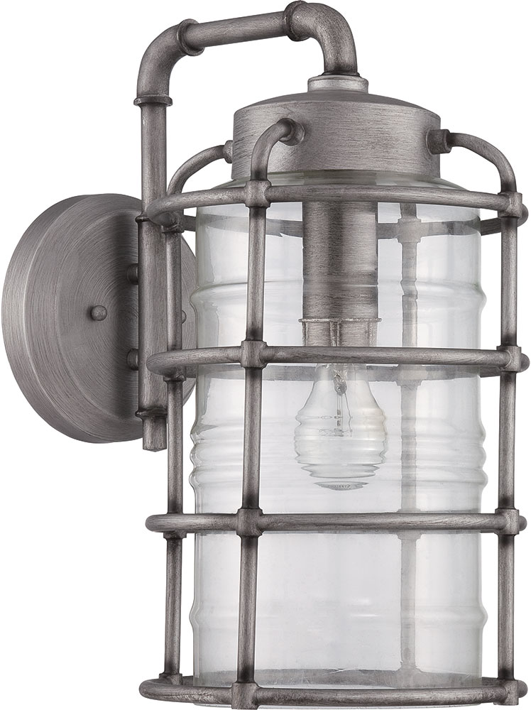 Craftmade Z2134 16 Hadley Retro Aged Galvanized Outdoor Large Wall Light Sconce Loading Zoom