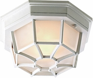 Craftmade Z389-04 Bulkhead Matte White Outdoor Large Flush Ceiling Light Fixture / Wall Sconce