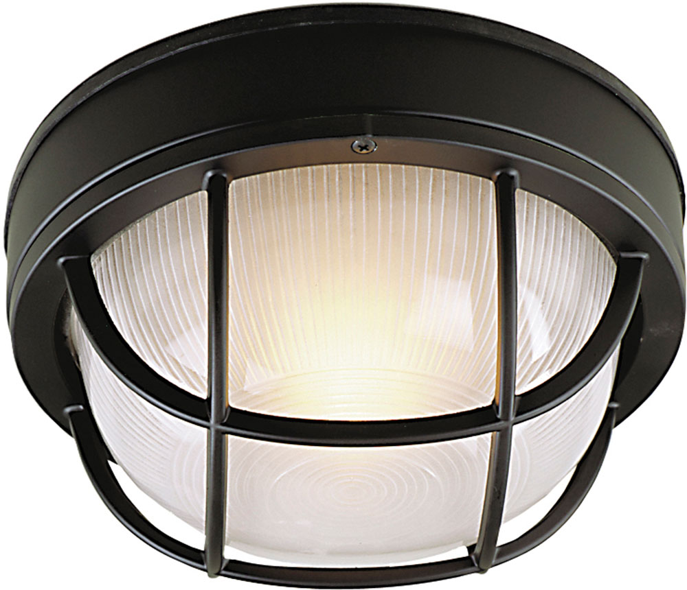 Craftmade z394 05 bulkhead matte black outdoor small ceiling light lamp sconce loading zoom