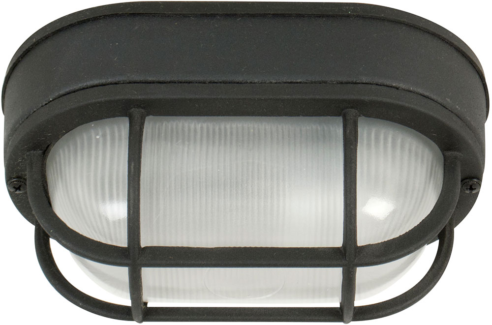 Craftmade Z396 05 Bulkhead Matte Black Outdoor Small Flush Mount Lighting Fixture Wall Loading Zoom
