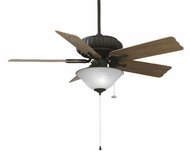 Fanimation Fans FP4320TB-oak Belleria 3 Light Outdoor Ceiling Fan in Textured Black with Washed Oak Blades