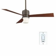Fanimation Fans FP4620OB Zonix Contemporary Ceiling Fan in Oil Rubbed Bronze with Downlight