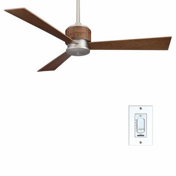 Fanimation Fans FP4620SN Zonix Contemporary Ceiling Fan in Satin Nickel with Woven Housing
