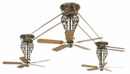 Fanimation Fans FP580AB18L3 Bourbon Street 3-Piece Tall Ceiling Fan Kit in Antique Bronze