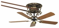 Fanimation Fans FP580AB18S1 Bourbon Street Short Ceiling Fan in Antique Brass