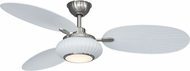 Fanimation Fans FP6258BNMW Palma Matte White with Brushed Nickel Accents LED 56  Home Ceiling Fan