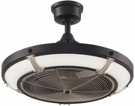 Fanimation Fans FP6260BLBN Pickett Drum Contemporary Black LED 24  Ceiling Fan