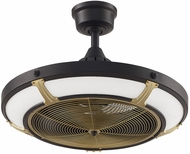 Fanimation Fans FP6260BLBS Pickett Drum Modern Black LED 24  Home Ceiling Fan