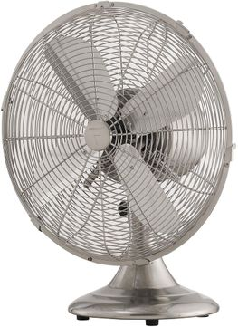 Fanimation Fans FP6274BN Retro Breeze Brushed Nickel 12  Desk Fan