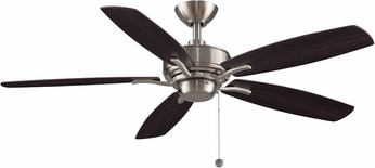 Fanimation Fans FP6284BN Aire Deluxe Brushed Nickel 52  Ceiling Fan w/ Reversible Blades