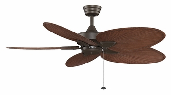 Fanimation Fans FP7500OBP4 Windpointe 52 Inch Sweep Damp-Rated Oil Rubbed Bronze Ceiling Fan