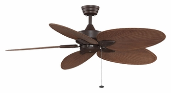 Fanimation Fans FP7500RSP4 Windpointe Rust Finish 5 Blade 52 Inch Sweep Home Ceiling Fan
