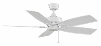 Fanimation Fans FP8012WH Cancun Tropical Style 52 Inch Diameter White 5 Blade Outdoor Ceiling Fan
