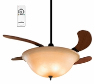 Fanimation Fans FP810AM Air Shadow Retracting Ceiling Fan with Amber Bowl Shade