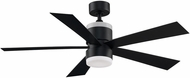 Fanimation Fans FP8458BL Torch Contemporary Black LED 52  Ceiling Fan