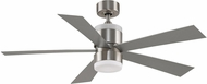 Fanimation Fans FP8458BN Torch Modern Brushed Nickel LED 52  Home Ceiling Fan