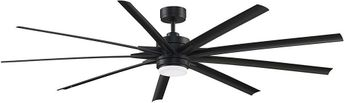 Fanimation FPD8159BLW Odyn 84 Black LED 84  Ceiling Fan