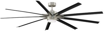 Fanimation FPD8159BNWBL Odyn 84 Contemporary Brushed Nickel LED 84  Ceiling Fan