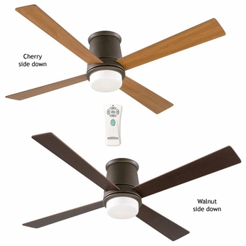 Fanimation Fans FPS7880OB Inlet Contemporary Flush Mount Downlight Ceiling Fan in Oil Rubbed Bronze
