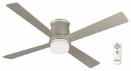 Fanimation Fans FPS7880SN Inlet Contemporary Flush Mount Downlight Ceiling Fan with Satin Nickel Blades
