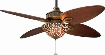 Fanimation Fans LB250VZ Lauren Brooks Bayhill Collection 4-Blade Ceiling Fan in Venetian Bronze with Downlight