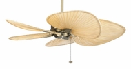 Fanimation Fans MA7500AB Windpointe Ceiling Fan in Antique Brass with Five Natural Palm Leaf Blades