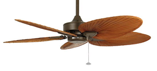 Fanimation Fans Ma7500ob Windpointe Ceiling Fan In Oil Rubbed Bronze With Five Brown Palm Leaf Blades Loading Zoom