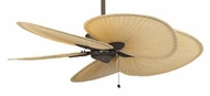 Fanimation Fans MA7500OB Windpointe Ceiling Fan in Oil Rubbed Bronze with Five Natural Palm Leaf Blades
