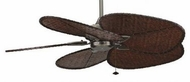 Fanimation Fans MA7500PW Windpointe Ceiling Fan in Pewter with Five Woven Bamboo Blades