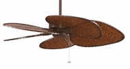 Fanimation Fans MA7500RS Windpointe Ceiling Fan in Rust with Five Woven Bamboo Blades