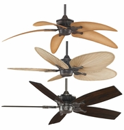Fanimation Fans MAD3255 Louvre Customizable Ceiling Fan in Bronze Accent, Pewter, or Rust Finish with 50+ Blade Options