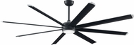 Fanimation Fans MAD7993BLW Stellar Contemporary Black with Silver Accents LED Interior / Exterior Ceiling Fan Motor (BLADES NOT INCLUDED)