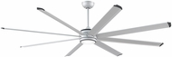 Fanimation Fans MAD7993SLW Stellar Modern Silver with Black Accents LED Interior / Exterior Ceiling Fan Motor (BLADES NOT INCLUDED)