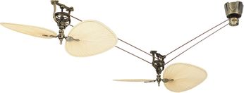 Fanimation FP1280AB Brewmaster Contemporary Antique Brass Ceiling Fan
