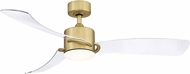 Fanimation FP8511BS SculptAire Brushed Satin Brass LED Indoor / Outdoor 52 Home Ceiling Fan