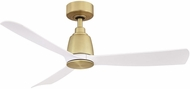 Fanimation FPD8547BS Kute 44 Brushed Satin Brass Interior / Exterior 44 Home Ceiling Fan