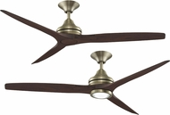 Fanimation MA6721BBS Spitfire Contemporary Brushed Satin Brass Ceiling Fan